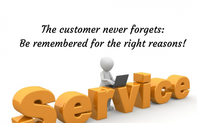 The customer never forgets: Be remembered for the right reasons!